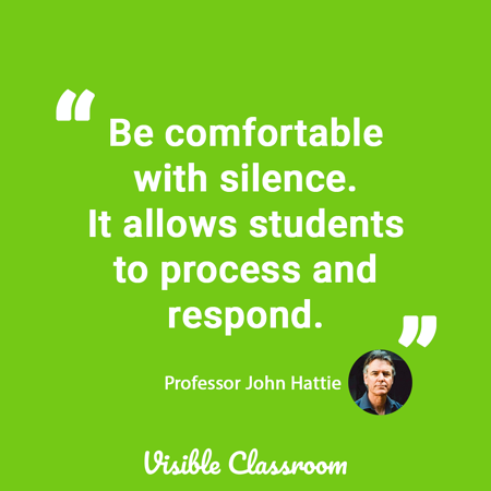 Be comfortable with silence - John