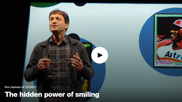 TED talk given by a single man on stage